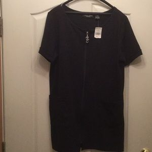 NWT Classic Blues Black Swimsuit Cover-up Sz S